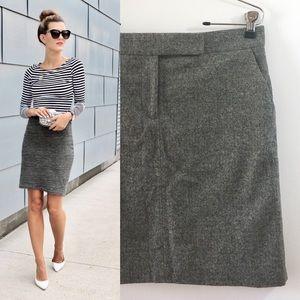 J crew herringbone skirt